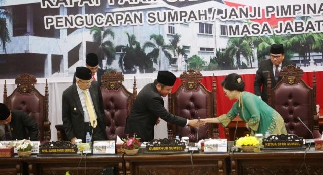Permalink ke Empat Unsur Pimpinan DPRD Sumsel Resmi Dilantik