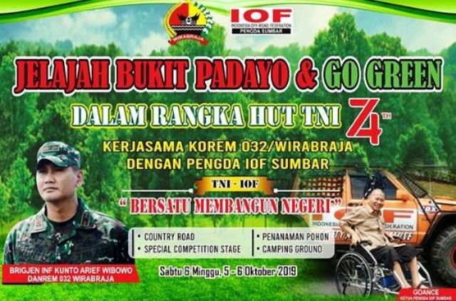 Permalink ke Korem 032/Wbr Gelar Fun Off Road Jelajah Bukit Pedayo & Go Green 2019
