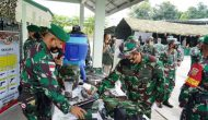 Permalink ke Waasops Panglima TNI Pimpin Riksiapops Satgas Pamtas RI-Malaysia Yonif 144/JY