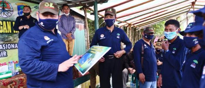 Pencanangan Padat Karya Mangrove untuk Pemulihan Ekonomi Nasional di Sumsel