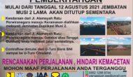 Permalink ke Diperbaiki, Jembatan Musi II Lama Tutup 3 Bulan Kedepan